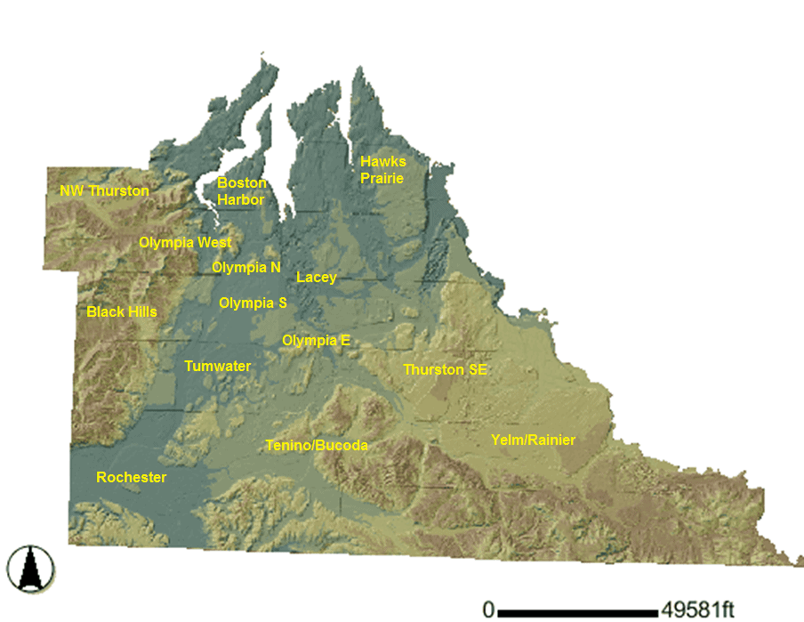 Thurston County Map