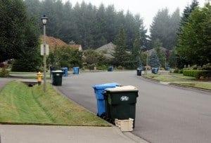 Indian Summer neighborhood in Olympia WA recycles