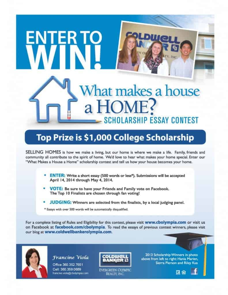 essay contest for home The mcrtl essay contest is actually 2 contests - a junior high contest and a senior high contest each year the essay contest provides a wonderful conversation starter for parents and students regarding the fundamental issue of the value of life.