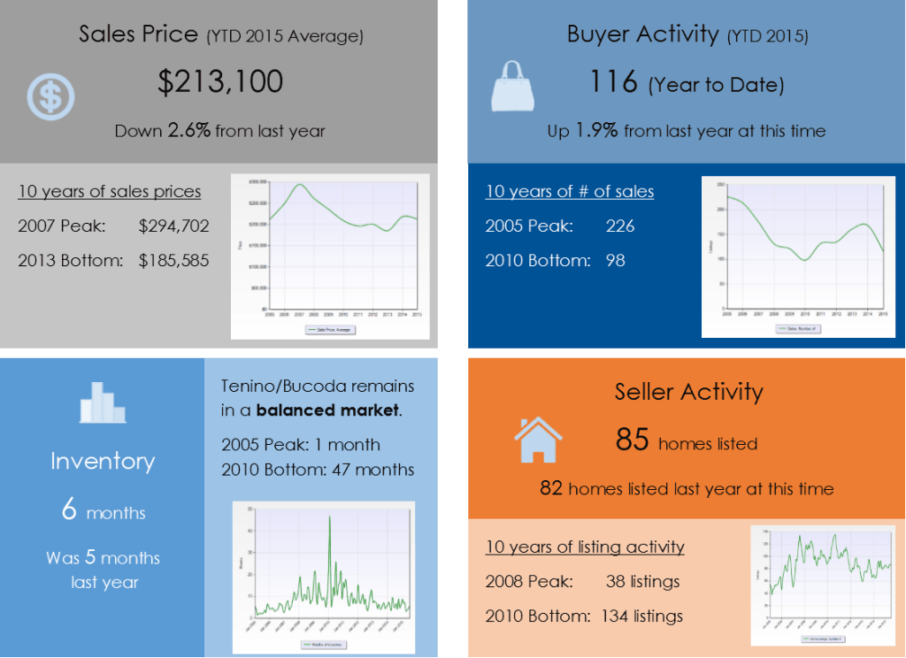 Tenino Bucoda WA real estate market update for June 2015