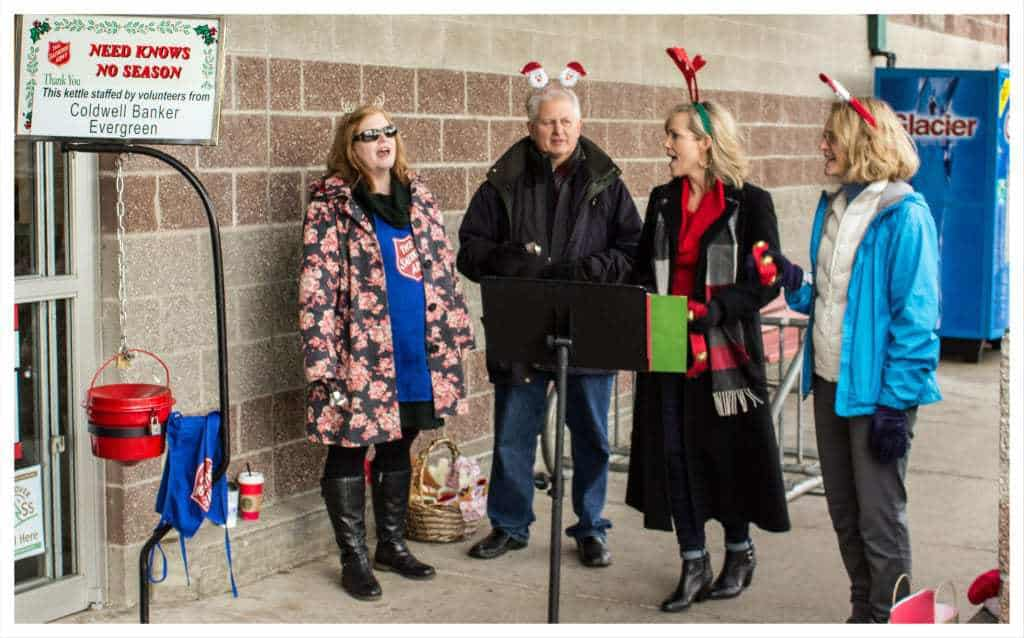 Salvation Army Bell Ringing and Singing 2015